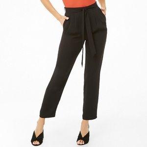 Black tie waist trousers
